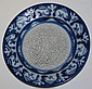Dedham Pottery blue & white rabbit plate diameter