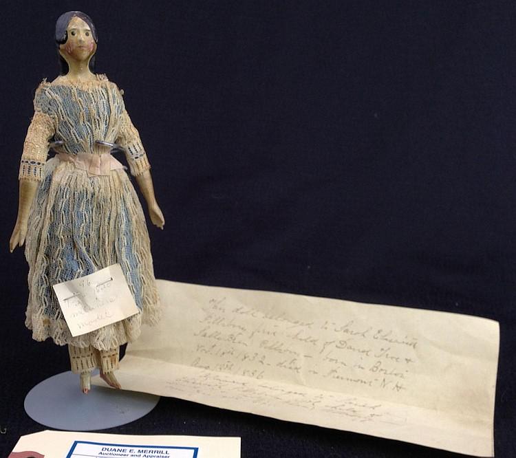 Ca 1820 Milliners model doll- kid body, wooden