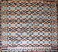 4 Color coverlet signed MK, Springfield Town Bucks Co. (PA) 1842