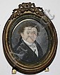 Early 19th century oval miniature portrait of a young man 2