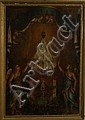 Rare 18th c French oil on canvas Black Madonna