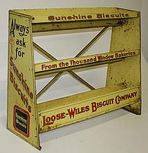 Sunshine Biscuits tin litho 3 tier adv store