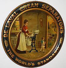 DeLaval Cream Separator Co self-framing round tin