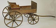 Paris, Maine wooden wagon w/ seat