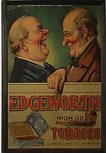 Edgeworth pipe tobacco cardboard litho adv sign w/