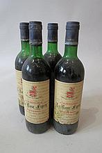 Quatre bouteilles de Château la Rose Figeac 1974