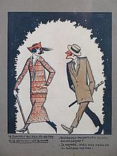 Marcel ARNAC (Xxème siècle) Le monsieur qui suit les dames et la dame