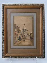 FRANK-WILL (1900-1951) Vue du Sacré Cœur. Encre et aquarelle. Signé en