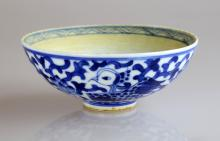 Chinese Qing Dynasty Blue and White Glazed Porcelain saucer