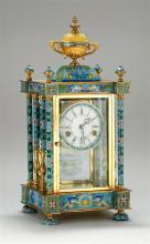 A CLOISONNE ENAMEL SHELF CLOCK ,20TH CENTURY.Z017.