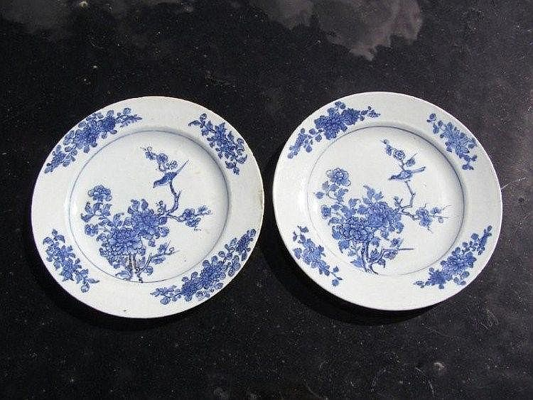 A set of eight late 18th/early 19thC Chinese blue