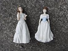 Six Royal Doulton Collectors' Club figurines – Melody, Sentiments Greetings, Amanda, Welcome, Harmony & Joy