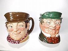 Two Royal Doulton character jugs – Sam Weller & Mr Pickwick, 5.25""