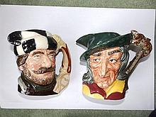 Two Royal Doulton character jugs – Pied Piper D6403 & Trapper D6609