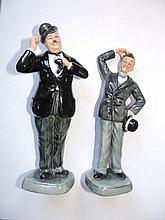 A pair of Royal Doulton limited edition figures of Laurel & Hardy HN 2774, 1475/9,000 with certificates