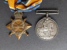 A WWI War Medal awarded to T4 275017 Dvr S.S. Krangold ASC together with a 1914-15 Star awarded to 10351 Pte W. Bond, Manch. R.
