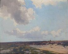 "Frederick John Widgery – oil on panel – 'Haldon Moors, Near Exeter, N.W. Wind, Aug 1928', signed , 12.5"" x 15.5"""