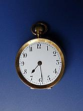A small 18ct gold open faced pocket watch