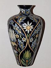 "A boxed Moorcroft Tribute To William Morris pattern vase by Rachel Bishop – 2004, 9"""