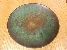 "A 20thC Swedish bronze shallow bowl by Sune Backstrom, 9"" diameter"