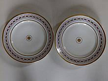 A  pair of 19thC Russian Safronov porcelain plates