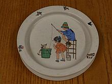 A Royal Doulton baby's bowl in Atwell style