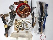 Costume jewellery and wrist watches
