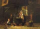 Hendrik Valkenburg. 1826 Deventer - 1896. Schüler der Akademie Antwerpen. Vertreten in den Museen