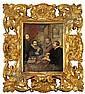 Fabbro. Maler um 1840. Rs. bez. Kopie nach Rubens: Justus Lipsius und seine Schuler nach einem Gemalde in der Galerie Pitti in Florenz. Gouachiertes Aquarell. 26 x 21,5 cm. Gl.u.R