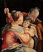 Maler des 19. Jh. nach Vorlage aus dem 17. Jh. Heilige Familie. Aquarell. 16,5 x 14 cm. Gl.u.R