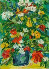 Karl Schwärzler. 1907 - Lustenau/Vbg. - 1990. Schwärzlers malerisches Oeuvre besticht durch eine lockere Pinselschrift und eine kräftige Farbgebung.