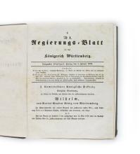 Regierungsblatt für das Königreich Württemberg