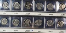 Roosevelt Dime Set 1946-1993 with proofs