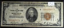 1929 $20.00 National Note FRB Minneapolis
