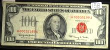 1966 Red Seal $100.00 United States Note