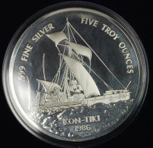1986 Western Samoa 5 oz Silver Commem Coin