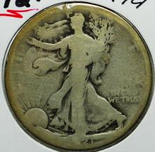 1921-S Walking Liberty Half Dollar
