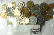 Bag of Mixed Foreign Coins