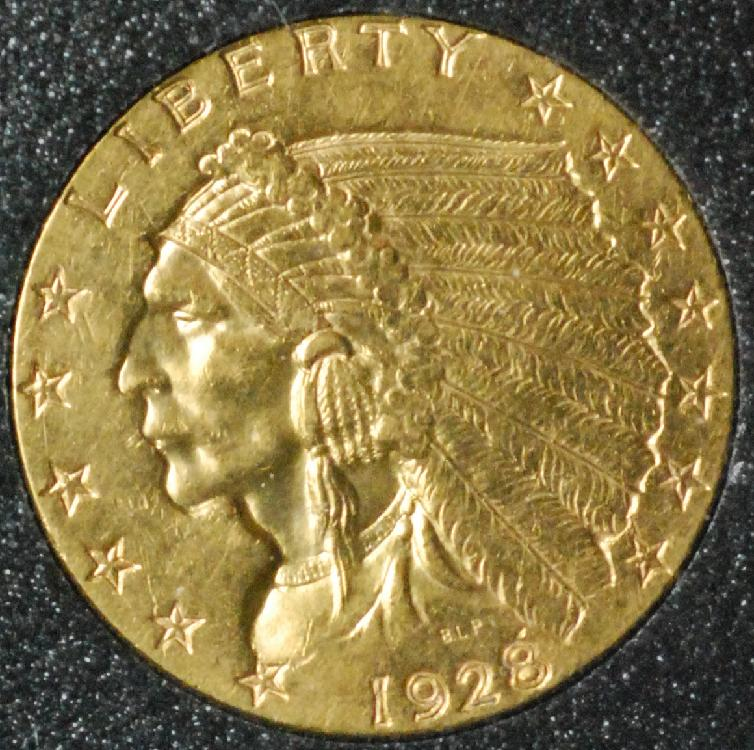 1928 $2.5 Dollar Gold Indian