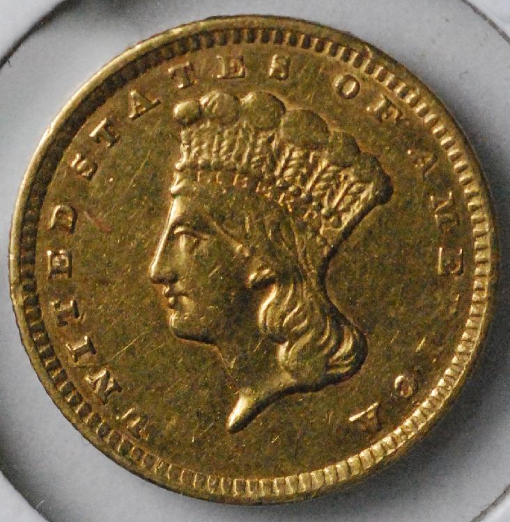 1856 United States $1.00 Gold