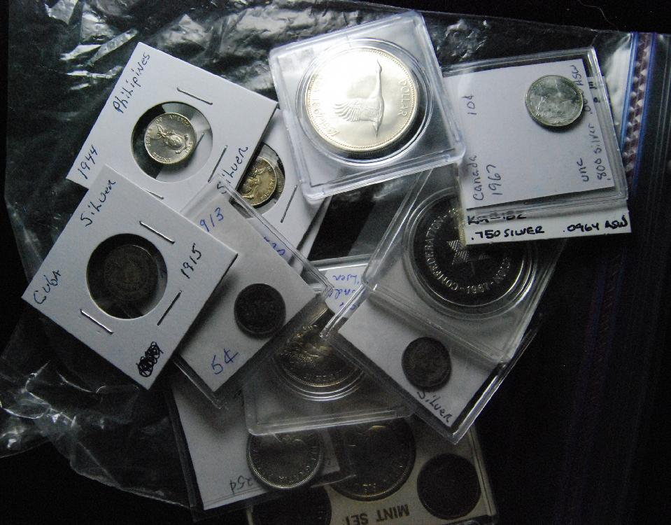 Bag of Misc Silver Foreign Silver Coins