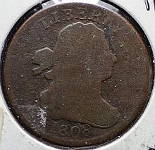 1808 Half Cent Rotated Die