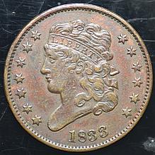 1833 1/2 cent