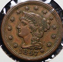 1847 Braided Hair Large Cent