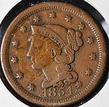 1854 Braided Head large Cent