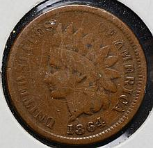 1864 Indian Head Cent Blank Reverse
