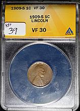 1909-S Lincoln Cent VF-30 ANACS