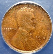 1912-S Lincoln Cent VG-10 ANACS