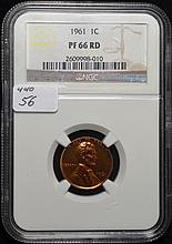 1961 Lincoln Cent Proof 66 Red NGC