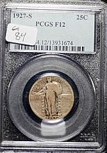 1927-S Standing Liberty Quarter F-12 by PCGS